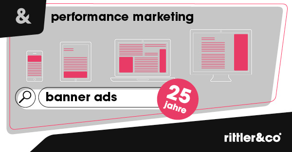 25 Jahre Banner Ads, Performance Marketing, Werbeagentur