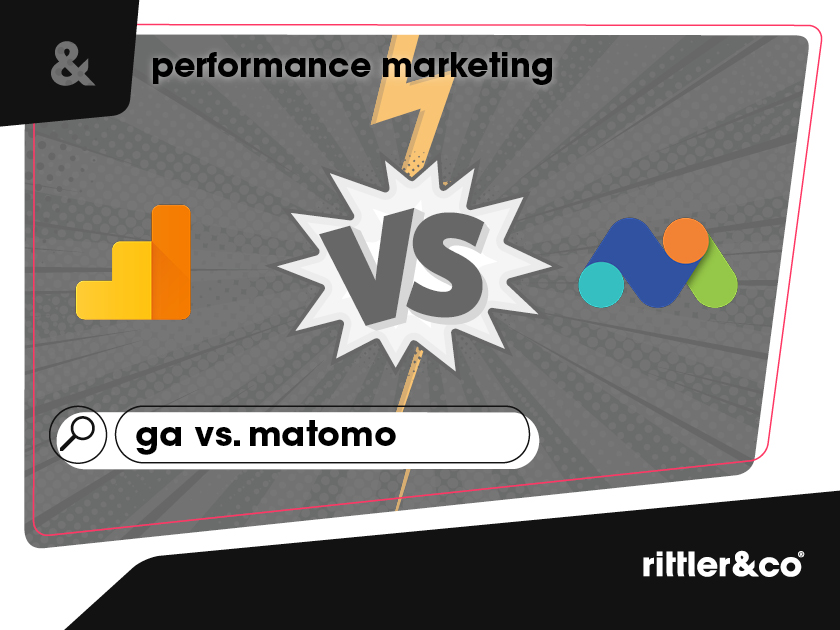 Google Analytics Logo vs Matomo Piwik Logo, gelb, orange, blau