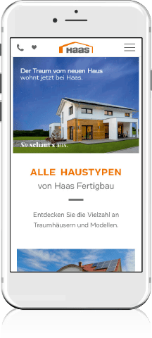 Haas Fertighaus Mobile Screen